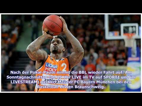 BBL: Basketball Löwen Braunschweig – FC Bayern LIVE im TV, Stream & Ticker