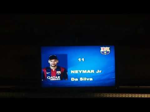 CL Barcelona vs PSG – Barcelona Starting Lineup – 2014.12.10