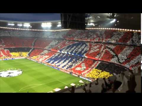 FC Bayern – Real Madrid, Choreo – Forever number one
