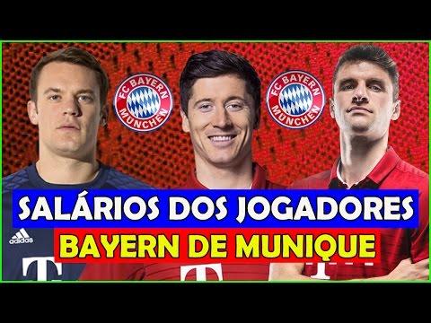 Os Salários dos Jogadores do Bayern de Munique 2017