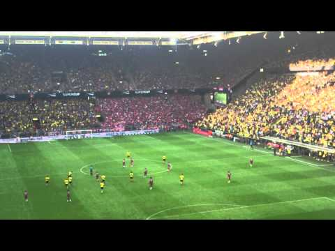 Atmosphere after goal Aubameyang! | Borussia Dortmund 2-0 FC Bayern Munich | Supercup 2014
