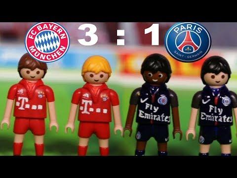 ⚽BAYERN MÜNCHEN-PARIS SAINT GERMAIN 3:1 – HIGHLIGHTS FUSSBALL CHAMPIONSLEAGUE Playmobil Stop Motion