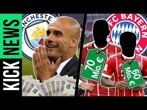 ManCity bietet Pep 23 Mio. € pro Jahr! Bayern plant Mega-Transfers! | KickNews
