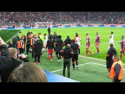 Ende 1.Halbzeit,Spielertunnel, FC Bayern München-Donezk,Achtelfinale,Allianzarena München Download