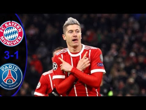 Bayern Munich vs PSG 3 1 Cuplikan&Hasil  Pertandingan Liga Champions Eropa HD 2017/2018
