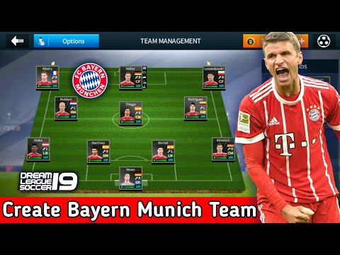 Create FC Bayern Munich Team ★ Kit Logo & Players ★ Dream League Soccer 2018