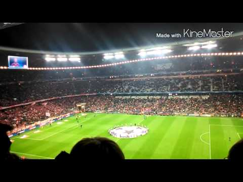 Bayern Munchen reading Roster ceremony in Champions League