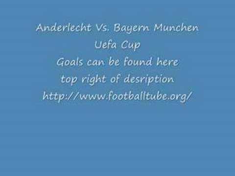 Anderlecht Vs. Bayern Munchen Uefa Cup