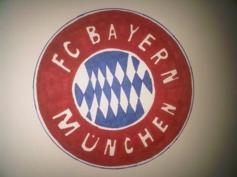 How to Draw the Bayern Munich logo (Wie zeichne das Logo des FC Bayern München)