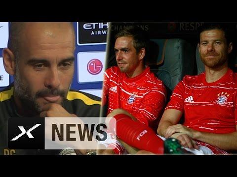 Pep Guardiolas Abschiedsrede für Philipp Lahm und Xabi Alonso | FC Bayern München