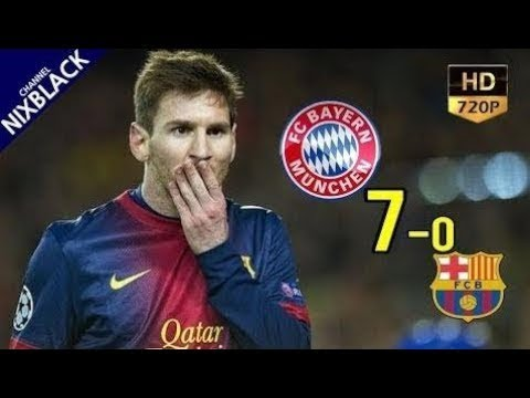 Bayern Munich 7-0 Barcelona 2013 UCL Semi Final All Goals & Extended Highlight HD/720P