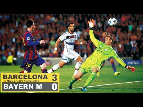 FC Barcelona vs Bayern Munich 3 0 Goals and Highlights with English Commentary UCL 2014 15 HD 720p