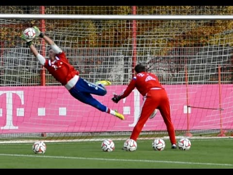 Heinz Müller – High Diving Saves – Goalkeeper Training FC Bayern Munich