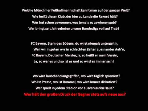 FC Bayern Stern des Sudens (with lyrics in german)
