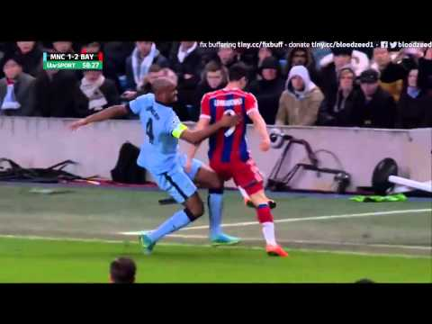 Robert Lewandowski fight vs Vincent Kompany | Manchester City vs Bayern Munich 3-2 HD