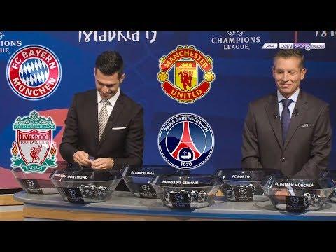 Champion League Draw Round of 16 Liverpool vs Bayern Munich . Manchester United vs PSG