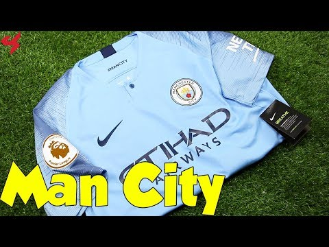 Nike Manchester City De Bruyne 2018/19 Home Soccer Jersey Unboxing + Review