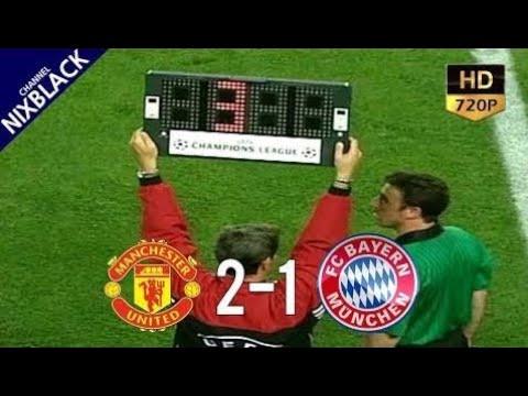 Manchester United 2-1 Bayern Munich 1999 UCL Final All Goals & Extended Highlight HD/720P