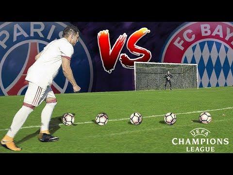 Champions League FREEKICK CHALLENGE (Bayern vs PSG)