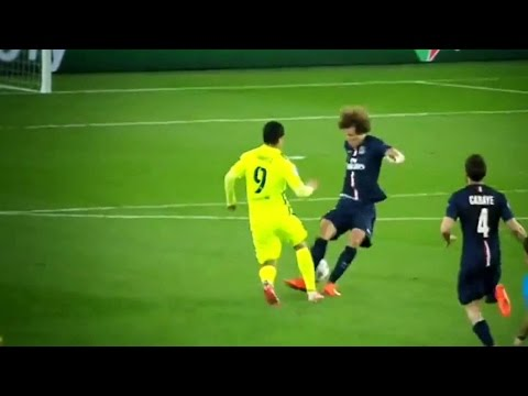 Luis Suarez Amazing Nutmegs Goals vs David Luiz | Barcelona vs PSG 3-1 | HD