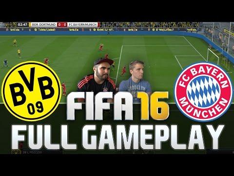 FIFA 16 FC BAYERN MÜNCHEN VS BORUSSIA DORTMUND FULL GAMEPLAY [HD+ 60FPS PS4 / XBOX ONE]