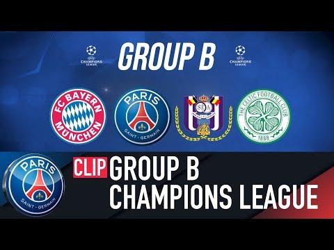 GROUP B – FC BAYERN MUNCHEN – PARIS SAINT-GERMAIN – SC ANDERLECHT – CELTIC FC
