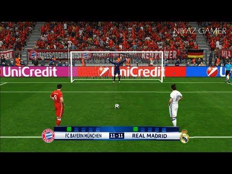 BAYERN MUNICH vs REAL MADRID | Penalty Shootout | PES 2017 Gameplay | UEFA Champions League