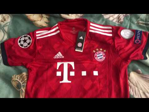 Minejerseys.vip 18-19 Bayern Munich Home Jersey & Dembele lettering Unboxing Review