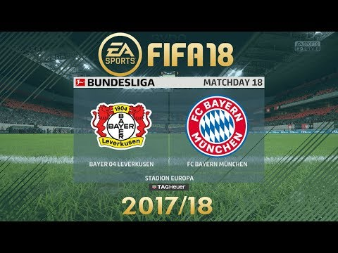 FIFA 18 Bayer 04 Leverkusen vs FC Bayern München | Bundesliga 2017/18 | PS4 Full Match