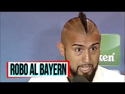 "Real Madrid 4-2 Bayern Munich Reacción Arturo Vidal ""Robo"" 2017"