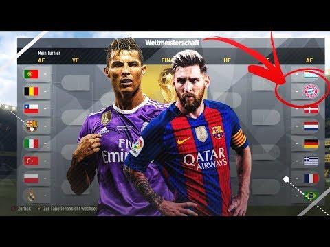 KÖNNTEN BARCELONA, REAL MADRID ODER DER FC BAYERN DIE WM GEWINNEN??!!  FIFA 17 EXPERIMENT#26