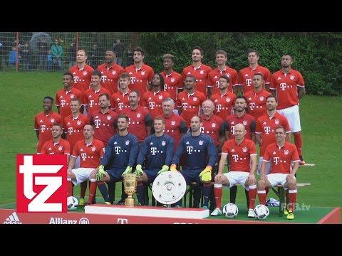 FC Bayern: Stars machen Blödsinn beim Fotoshooting – Mannschaftsfoto 2016/2017