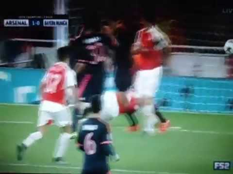 GIROUD GOAL ARSENAL 2-0 BAYERN MUNICH with English commentary