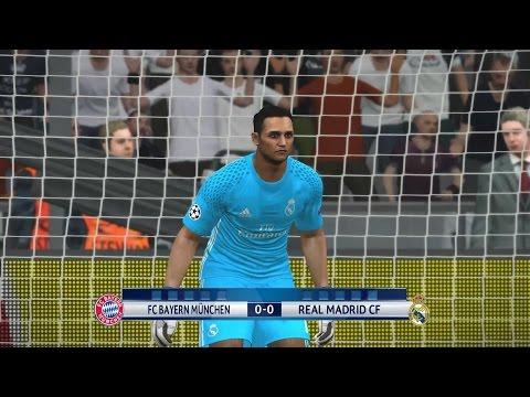 PES 2017 FC Bayern München – Real Madrid Penalty Shootout UEFA Champions League