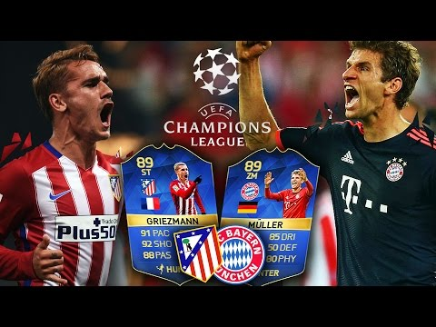 FC BAYERN MÜNCHEN VS ATLETICO MADRID CHAMPIONS LEAGUE HALBFINALE | FIFA 16 ULTIMATE TEAM