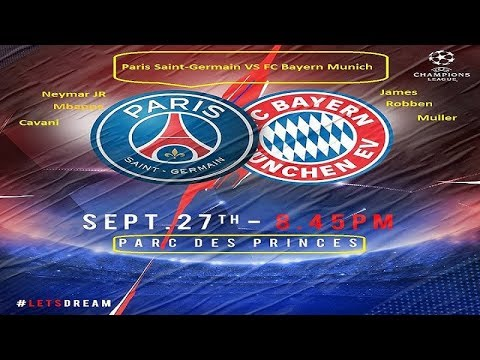PSG vs FC Bayern Munich 3-0 || UCL || 27th September 2017 ||  Lineup