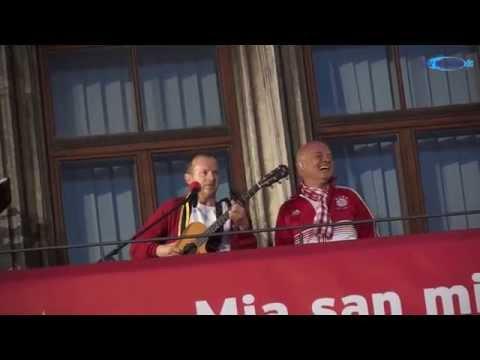 """Stern des Südens """"unplugged"""" @ Meisterfeier 2014 FC Bayern München Marienplatz"""