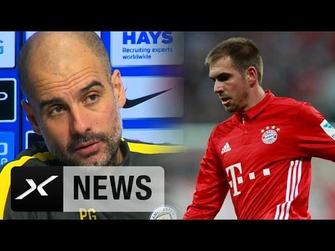 Pep Guardiola mit Liebesbekundung an Philipp Lahm | Manchester City | FC Bayern