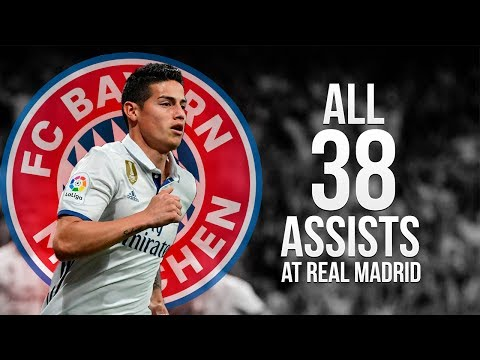 James Rodriguez – Welcome to Bayern Munich 2017 | All 38 Assists at Real Madrid ᴴᴰ