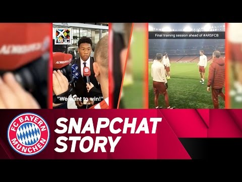 Road to the Emirates | FC Arsenal – FC Bayern | Snapchat Story