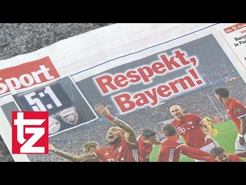 FC Bayern überrollt Arsenal London – Pressestimmen zum Spiel