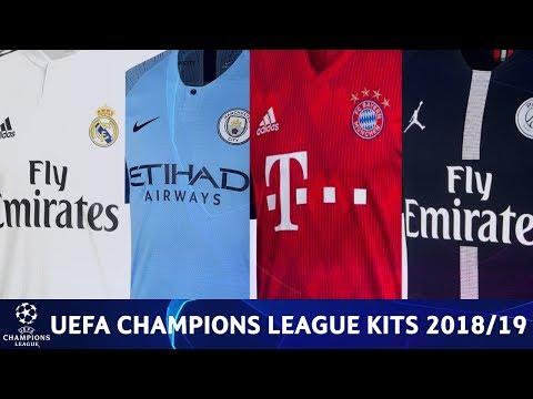 UEFA Champions League Kits 2018/19