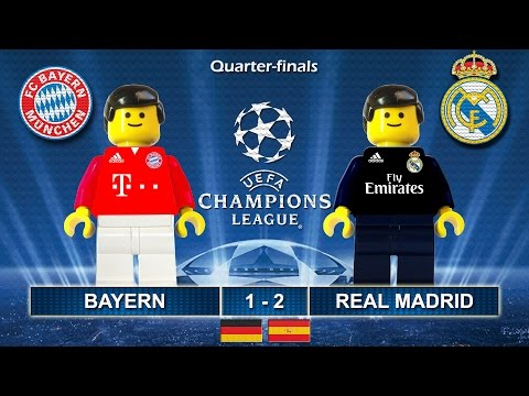 Bayern vs Real Madrid 1-2 • Champions League 2017 (12/04/2017) goals highlights Lego Football