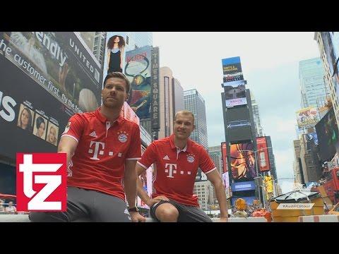 FC Bayern-Stars in New York City: Begeisterung bei den Fans (Audi US Summer Tour)