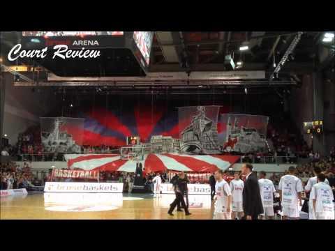 Brose Baskets: Intro zum Spiel gegen den FC Bayern Basketball inkl. Nordtribünen-Choreo