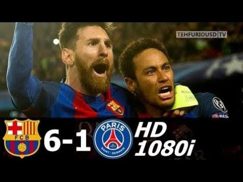 FC Barcelona vs PSG 6-1 All Goals and EXT Highlights with English Commentary (UCL) 2016-17 HD 1080i