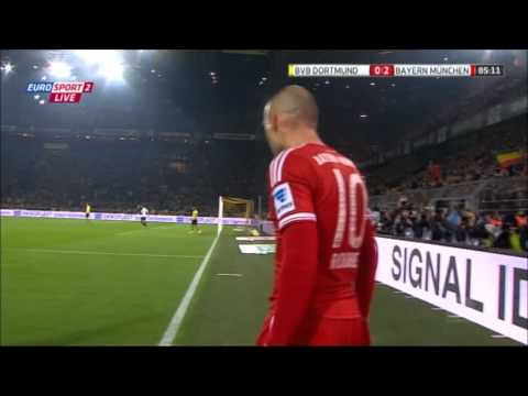 Dortmund – Bayern 0 – 3 Robben Goal 0-2