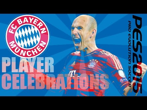 PES 2015 Player Celebrations — FC Bayern Munich — R.Lewandowski, T.Muller, A.Robben, M.Gotze!!