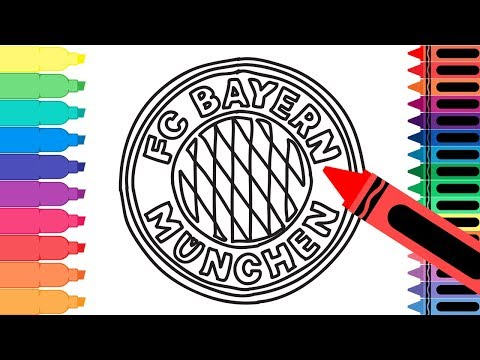 How to Draw FC Bayern München Badge – Drawing the Bayern Logo – Coloring for kids | Tanimated Toys