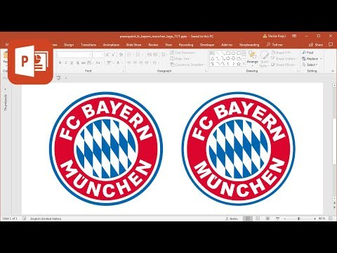 How to create FC Bayern Munchen logo in Microsoft PowerPoint (Tutorial)